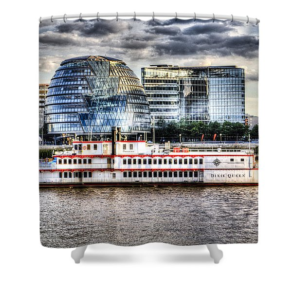 The Dixie Queen Paddle Steamer Shower Curtain