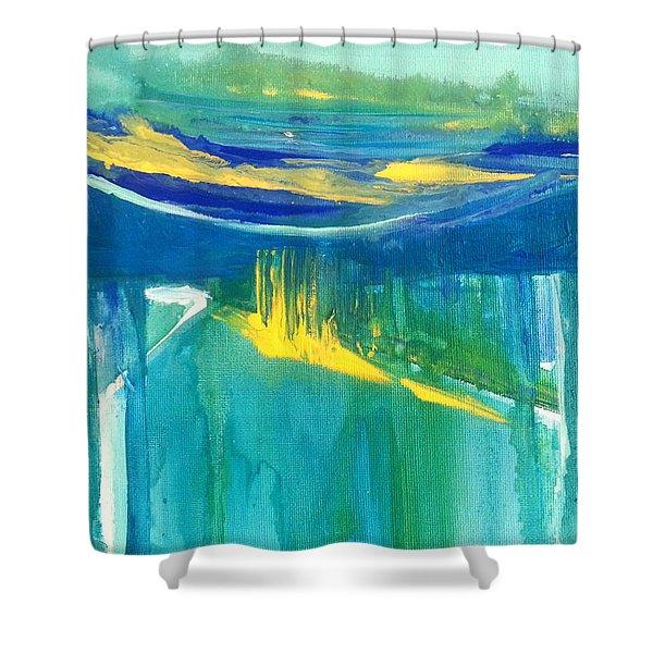 The Emerald Sea Shower Curtain