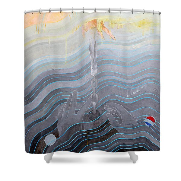 the escape of Ray Charles Shower Curtain