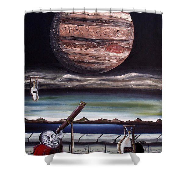 The Eternal Staring Contest Shower Curtain