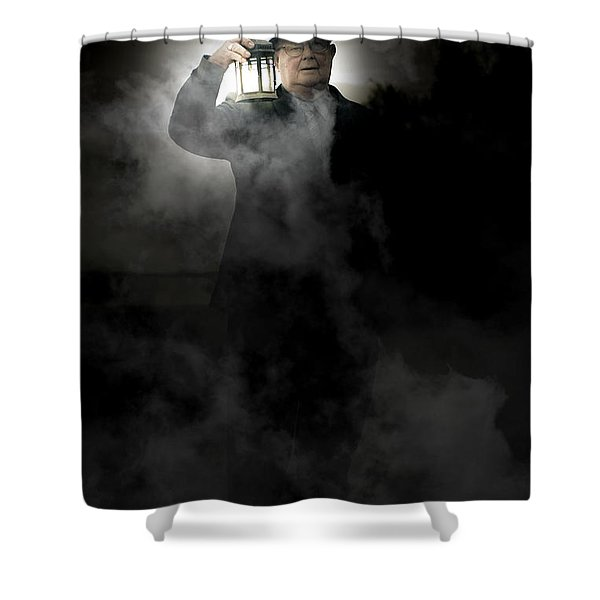 The Graveyard Shift Shower Curtain