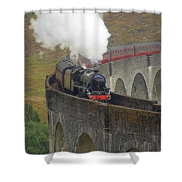The Jacobite Steam Train Shower Curtain