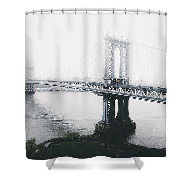 The Manhattan Bridge Shower Curtain