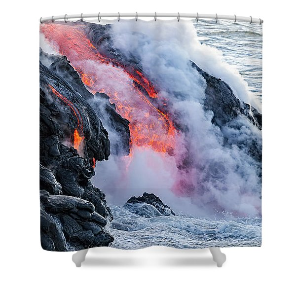 The Pahoehoe Lava Flowing From Kilauea Shower Curtain