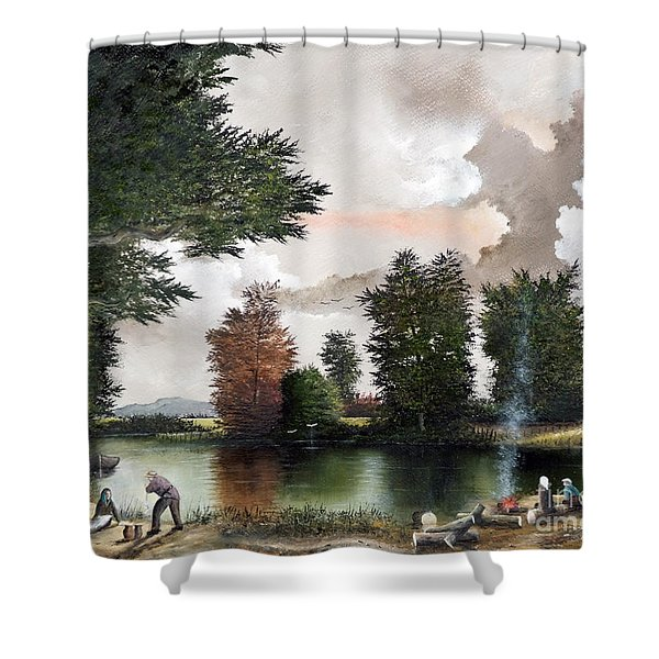 The Picnic Shower Curtain