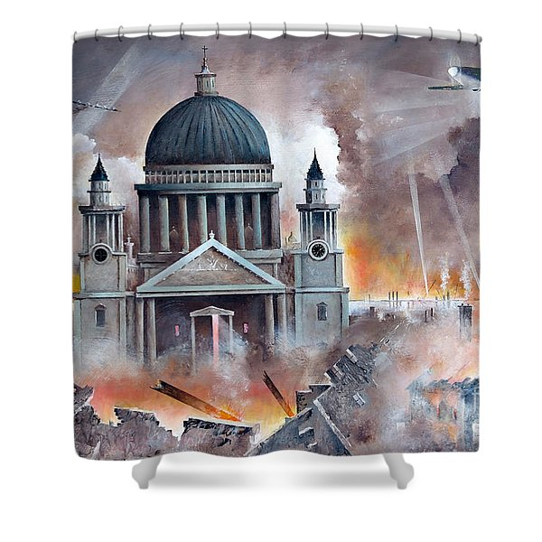 Shower Curtain featuring the painting The Pursuit by Ken Wood