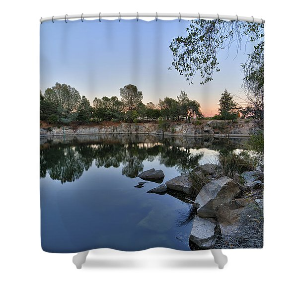 Shower Curtain featuring the photograph The Quinn Quarry by Jim Thompson