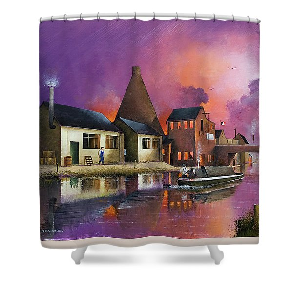 The Red House Cone - Wordsley Shower Curtain