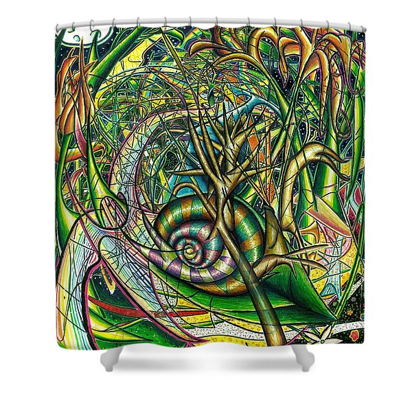 The Snail Shower Curtain