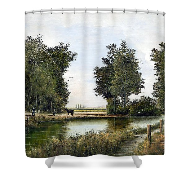 The Woodman Shower Curtain