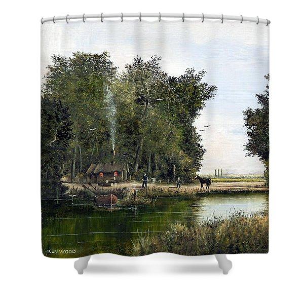 The Woodman Shower Curtain