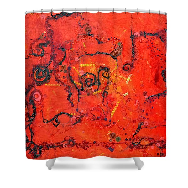 Thermal Denaturation Shower Curtain