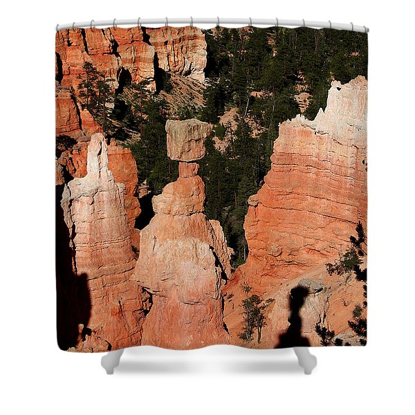 Shower Curtain featuring the photograph Thors Shadow by Jemmy Archer