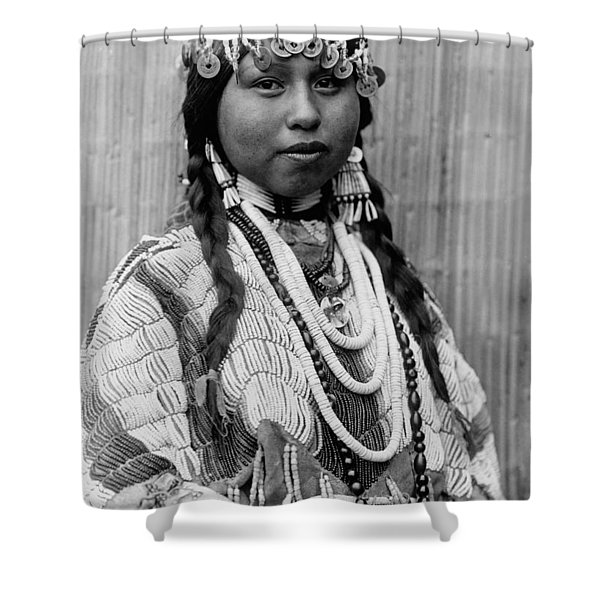 Tlakluit Indian Woman Circa 1910 Shower Curtain