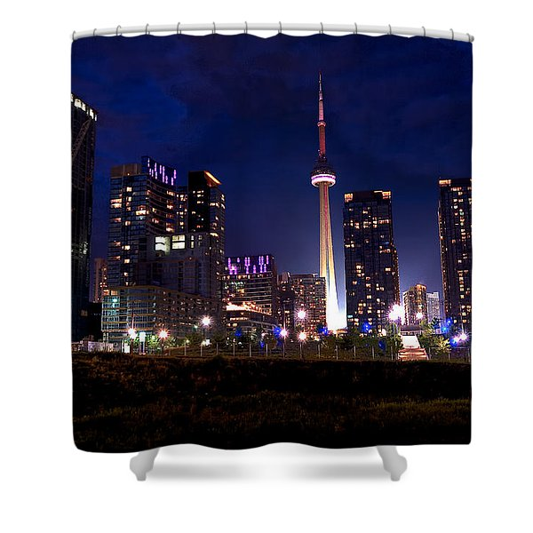 Toronto By Night Shower Curtain