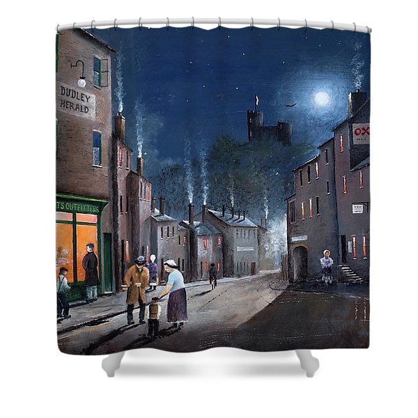 Tower Street Dudley C1930s Shower Curtain