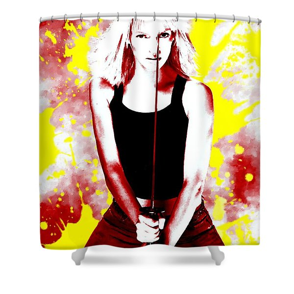 Uma Thurman Shower Curtain