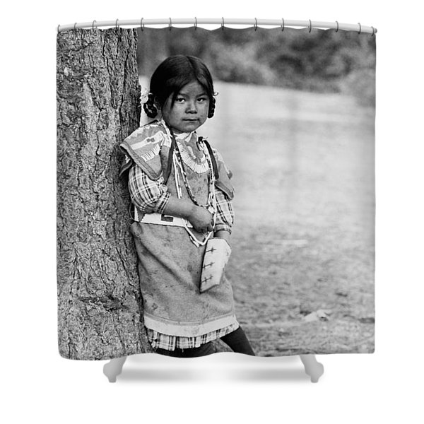 Umatilla Girl Circa 1910 Shower Curtain