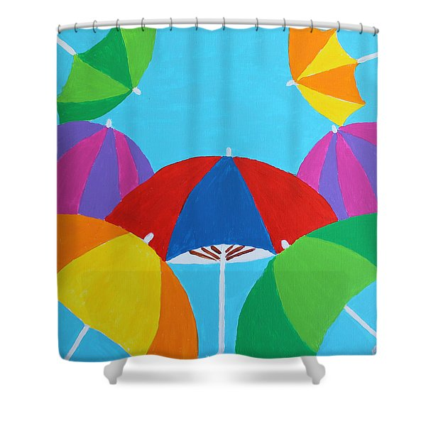 Umbrellas Shower Curtain
