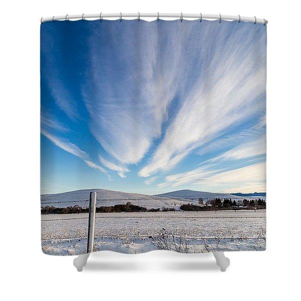 Under Wyoming Skies Shower Curtain