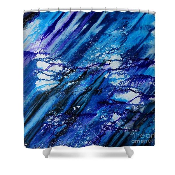 Blue Wind Shower Curtain