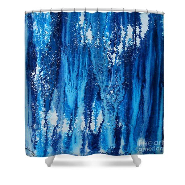 Snow Fall Shower Curtain