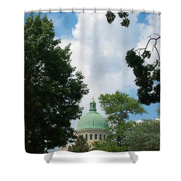 Us Naval Academy Chapel Dome Shower Curtain