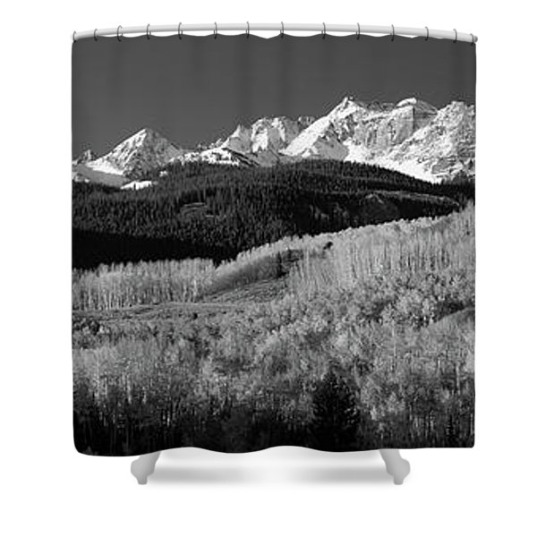 Usa, Colorado, Rocky Mountains, Aspens Shower Curtain