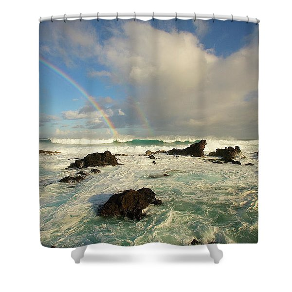 Usa, Hawaii, Rainbow Offshore Shower Curtain