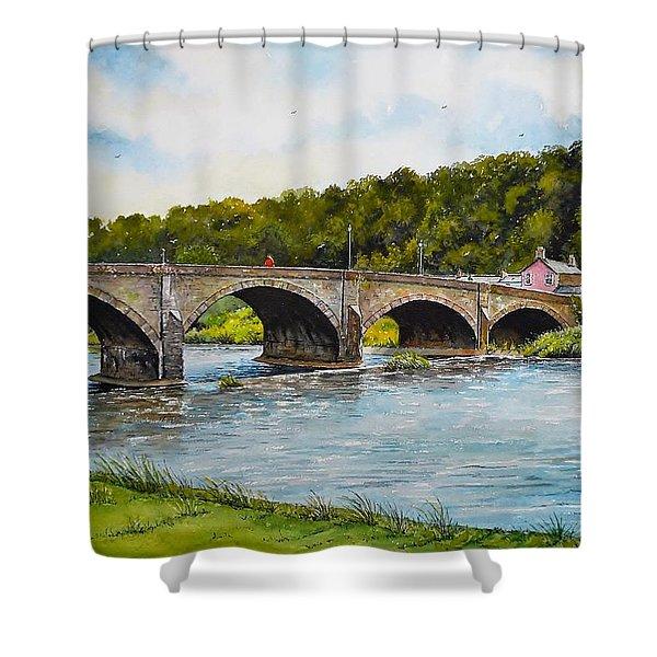 Usk Bridge Shower Curtain