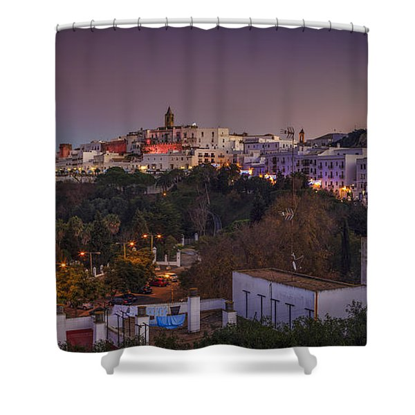 Vejer De La Frontera Panorama Cadiz Spain Shower Curtain