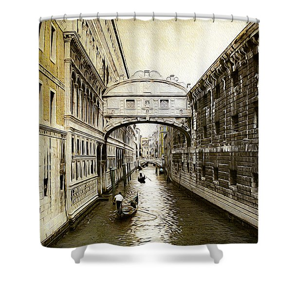 Venice City Of Canals  Shower Curtain