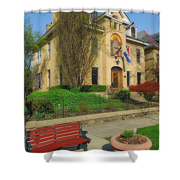 D47l-14 Victorian Village Photo Shower Curtain