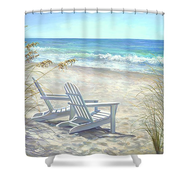 View For Two. Shower Curtain