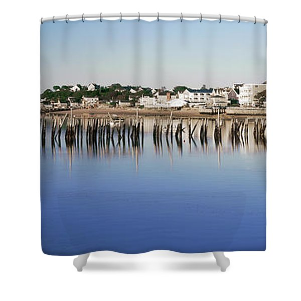 View Of Pier In Ocean, Provincetown Shower Curtain