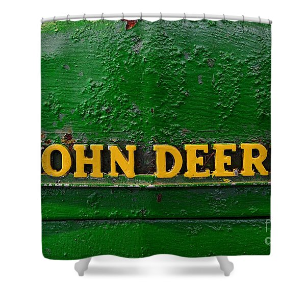 Vintage John Deere Tractor Shower Curtain