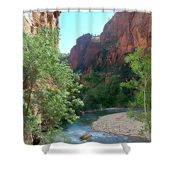 Shower Curtain featuring the photograph Virgin River Rapids by Jemmy Archer