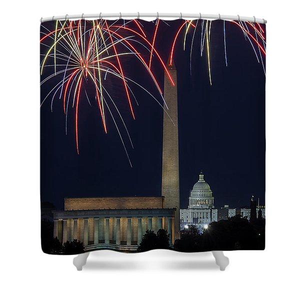 Washington Dc Fourth 3 Shower Curtain