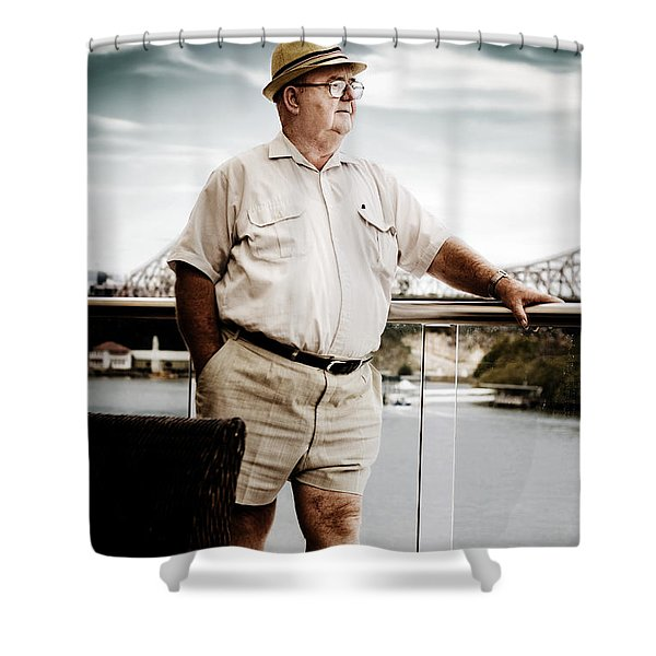 Wealthy Retired Man Shower Curtain
