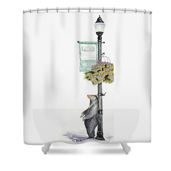 Welcome To Bozeman Shower Curtain