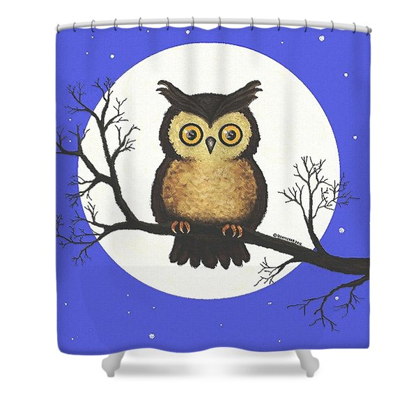 Whooo You Lookin' At Shower Curtain