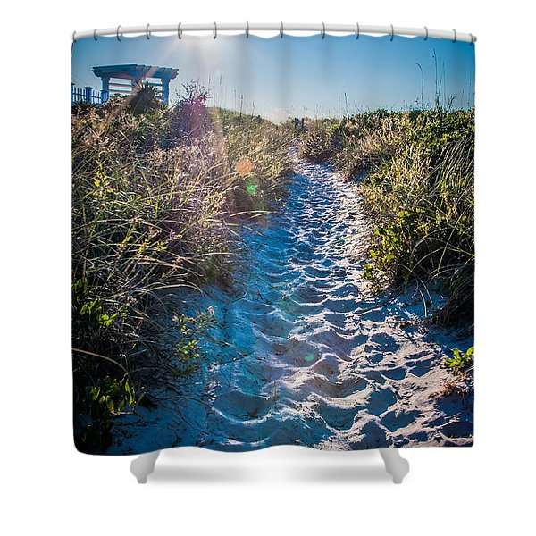 Shower Curtain featuring the photograph Wilmington Coastal Scene Wilmington North Carolina by Alex Grichenko