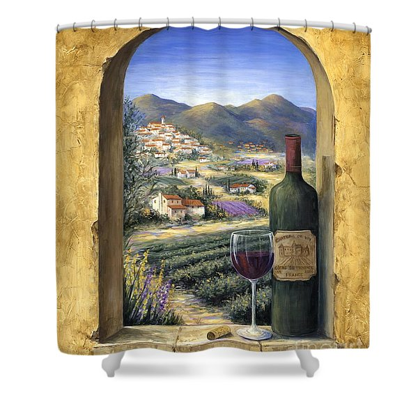 Wine And Lavender Shower Curtain
