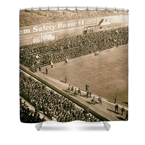 World Series Crowd At Ebbets Field Brooklyn 1920 Shower Curtain