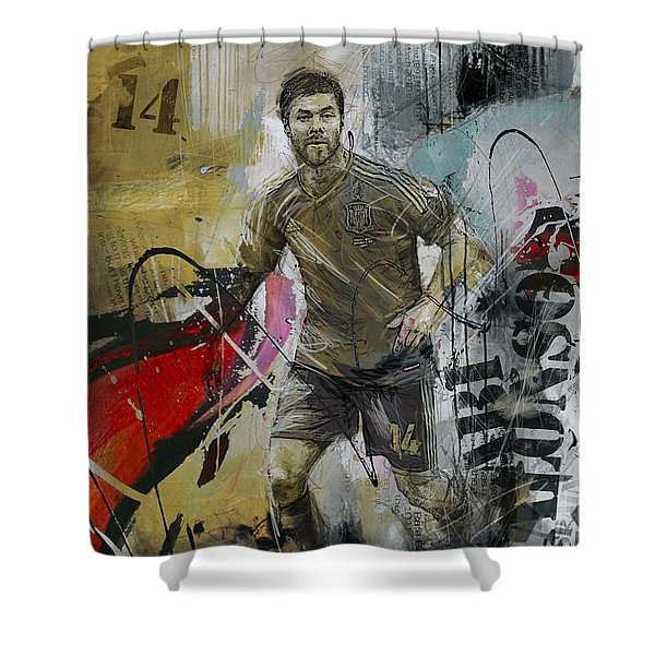 Xabi Alonso - C Shower Curtain