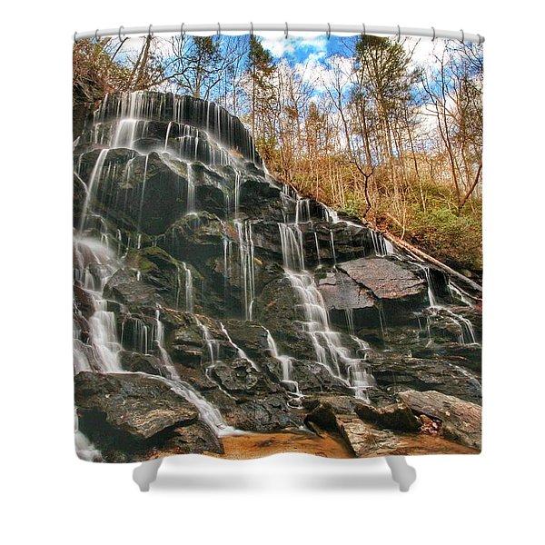 Yellow Branch Falls Shower Curtain