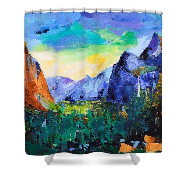 Yosemite Valley - Tunnel View Shower Curtain