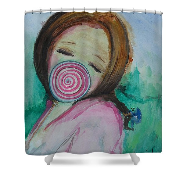 Shower Curtain featuring the painting You're Beautiful by Laurie Lundquist