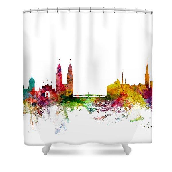 Zurich Switzerland Skyline Shower Curtain