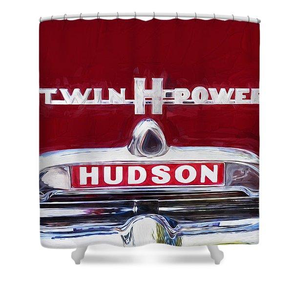 1952 Hudson Hornet 4 Door Sedan Twin H Power Painted  Shower Curtain
